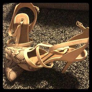 Taupe snakeskin Heels